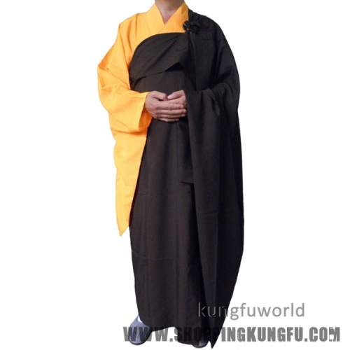 2 Pieces Buddhist Kesa Haiqing Robe Shaolin Monk Dress Meditating Kung fu Suit