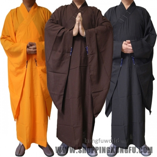 Top Quality Unisex Buddhist Monk Robe Zen Masters Haiqing Gown  Meditation Uniform