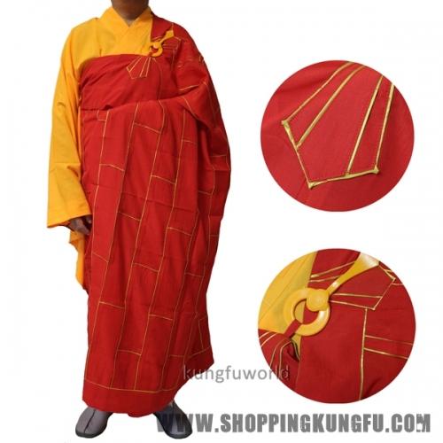 Top Quality Buddhist Monk Dress Zuyi Kesa Robes with inside Haiqing Meditation Uniform Shaolin Kung fu Suit