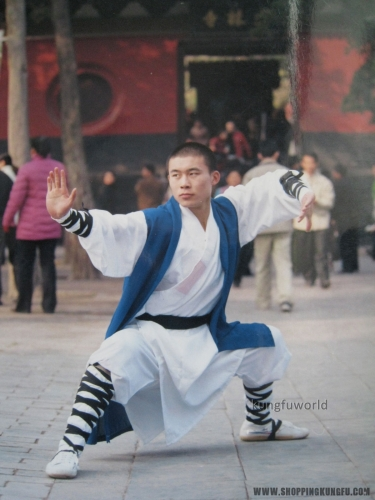 White Shaolin Monk Robe Kung fu Uniform