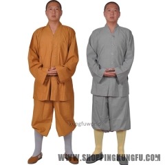 100% Cotton Shaolin Kung fu Suit Martial arts Uniform Monks Meditation Clothes