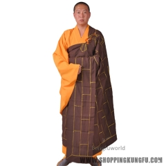 Buddhist Monk 25 Panel Zuyi Kesa Cassock Haiqing Robe Meditation Uniform
