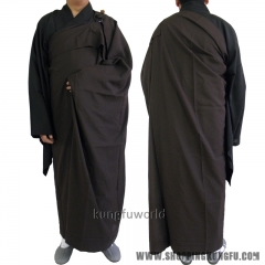 Shaolin Temple Monk Dress Zen Buddhist ManYi Kesa Robe with Inside Haiqing Robe Lay Meditation Suit Uniform