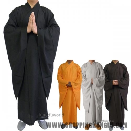 Shaolin Buddhist Monk Dress Meditation Haiqing Robe Kung fu Suit Long Gown