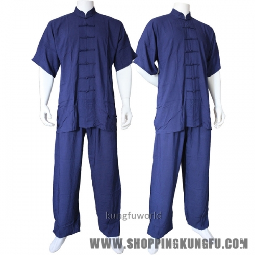 Summer Lightcotton Shortsleeves Tai chi Uniform Kung fu Wing Chun Wushu Suit
