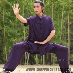 24 Colors Shortsleeves Summer Tai chi Uniform Martial arts Kung fu Wing Chun Suit