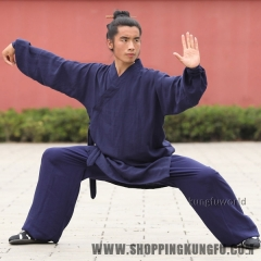 High Quality Linen Wudang Taoist Robe Tai chi Uniform Martial arts Kung fu Suit