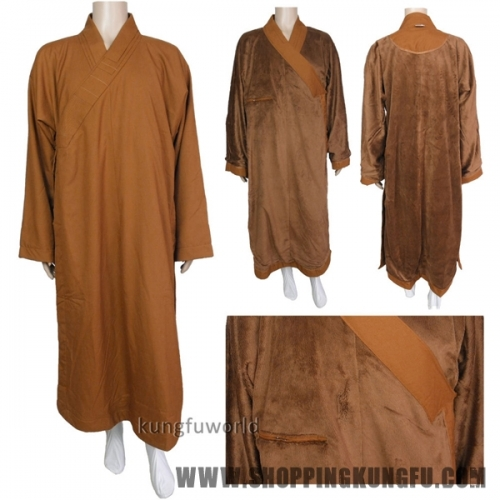 Top Quality Shaolin Monk Winter Dress Buddhist Long Robes
