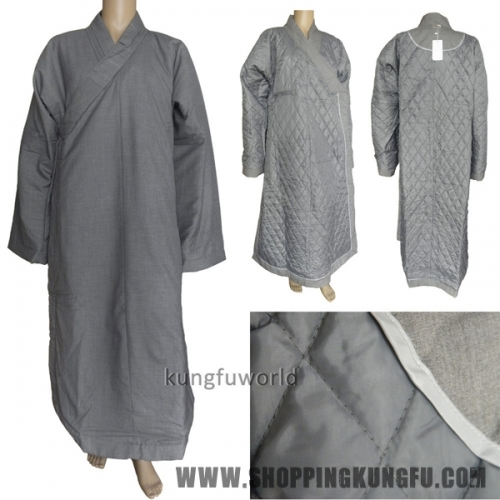 Top Quality Buddhist Monk Winter Long Robe Meditation Suit Martial arts Uniform