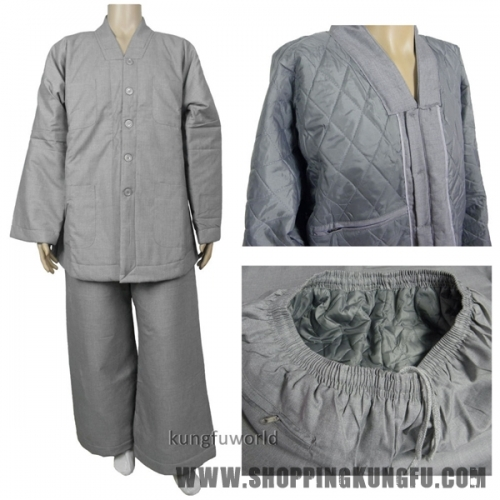 Top Quality Shaolin Temple Buddhist Monk Winter Uniform Kung fu Meditation Suit