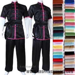 Custom Make Shortsleeves Changquan Tai chi Uniform Martial arts Wing Chu Kung fu Wushu Suit