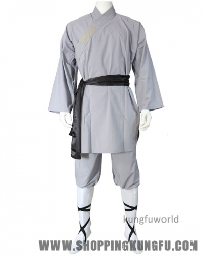 Gray Cotton Shaolin Uniform Martial arts Suit