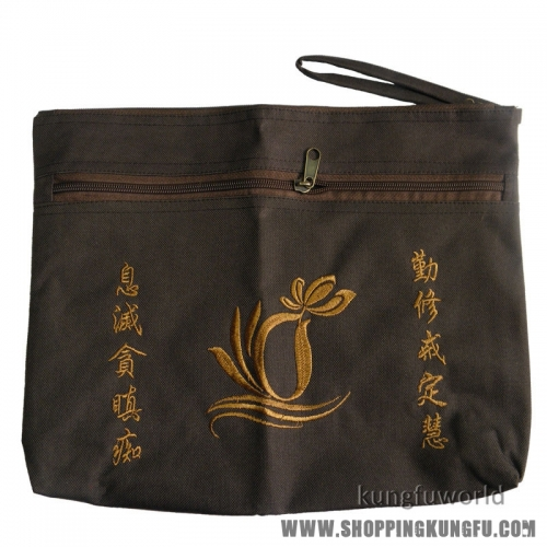 Buddhist monk bag for kesa haiqing robes Buddhism Lay Monk embroidery handbag