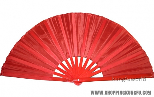 Pure Red Bamboo Tai chi Fan Kung fu Martial arts Wushu Training