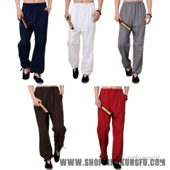 Comfortable Cotton Shaolin Kung fu Tai Chi Martial arts Pants Wushu Trousers