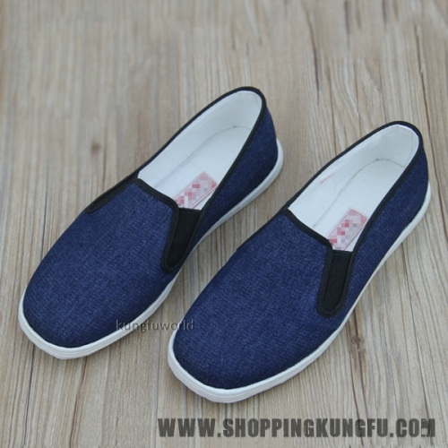 Blue Handmade Cotton Cloth Kung fu Tai Chi Shoes Martial arts Wushu Sneakers