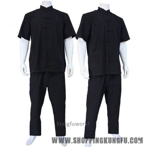 100% Cotton Chinese Tang Kung fu Suit Martial arts Wushu Tai Chi Uniform Shaolin Wing Chun Clothes