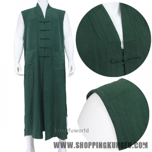 High Quality Cotton Long Vest for Shaolin Buddhist Monk Robe Meditation Uniforms