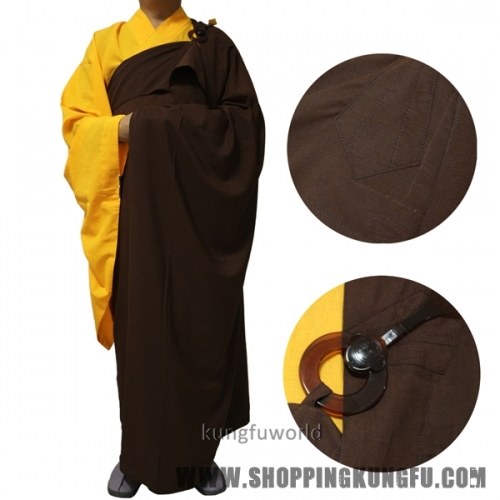 Top Quality Shaolin Buddhist Monk Dress Kesa Haiqing Robe Meditation Suit