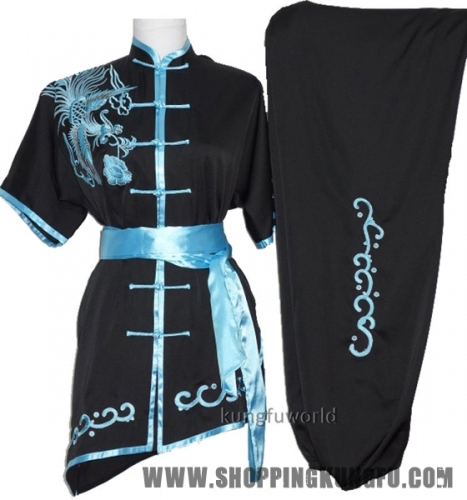 Embroidery Shortsleeves Tai chi Uniforms Martial arts Kung fu Wing Chun Suit