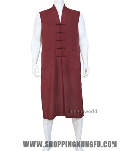 24 Colors Buddhist Robe Monk Dress Long Vest Meditation Uniform Kung fu Suit