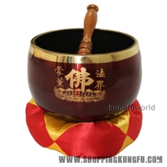 "Beautiful Big Buddhism Monk Prayer Bell Singing Bowl 6""/15.2cm Diameter"