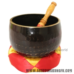 "Beautiful Black Color Big Buddhist Monk Prayer Singing Bowl 6""/15.2cm Diameter"