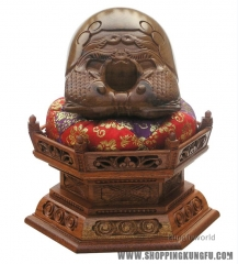 "Fancy 3.5"" Rosewood Muyu Wooden Fish Buddhist Monk Mokugyo Temple Block Drums"