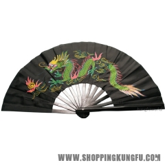 Dragon Phoenix Bamboo Tai chi Training Fan