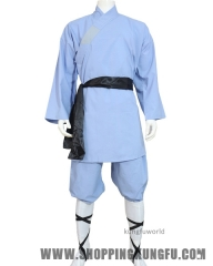 Sky Blue Cotton Shaolin Kung fu Uniform Martial arts Suit