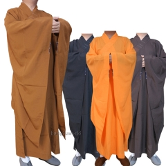 Extra-wide Sleeves Shaolin Buddhist Monk Dress Haiqing Robe Meditation Uniforms