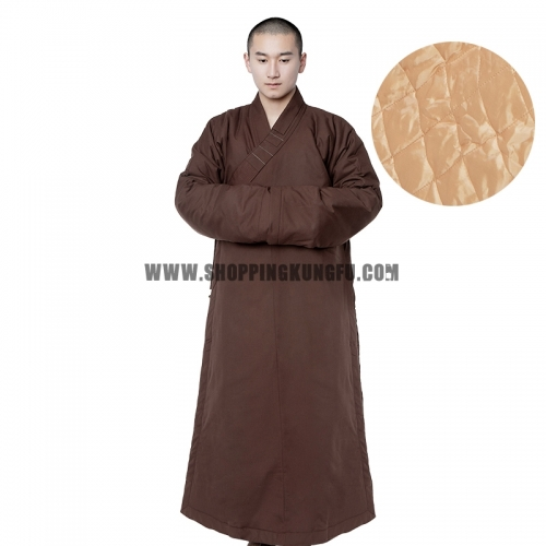 Warm Quilted Winter Shaolin Buddhist Monk Robe