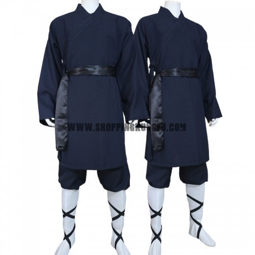 custom tailored polyester shaolin kung fu suit