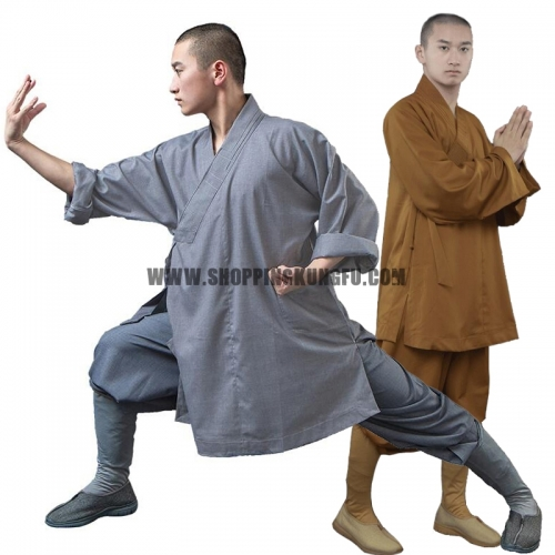 Thick Cotton Blends Shaolin Arhat Monk Uniforms including Socks
