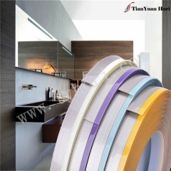 China manufacture Italy pvc edge banding plastic window edge trim for 5mm thick pvc edge banding