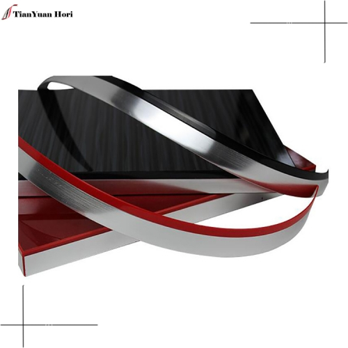 Hot sale keral designs chrome trim strip for furniture edging pvc edge banding tape 3d edge banding