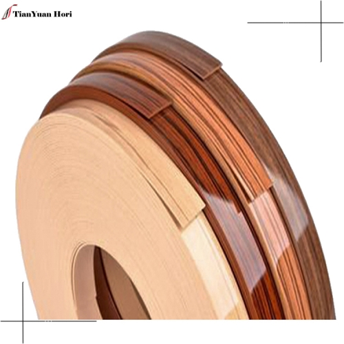 furniture accessories 3mm Wood Grain high gloss pvc edge banding