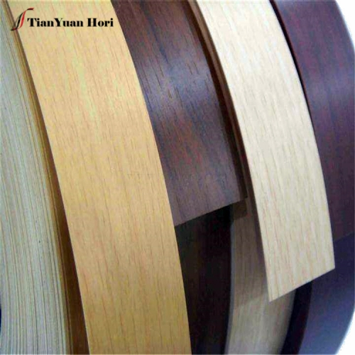 Made in China environmental protection pvc wood grain thin color edge banding strip