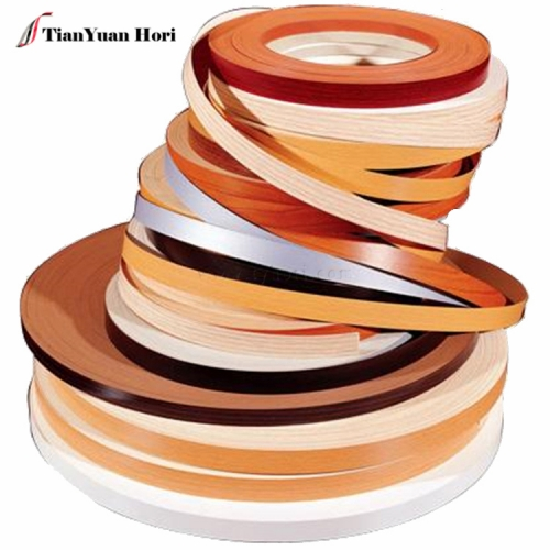 China manufacturer not fading or turning thin pvc wood grain pvc edge banding