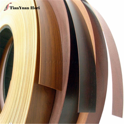 China Manufacturer Various Colors Plastic Cabinet wood grain low price pvc edge banding