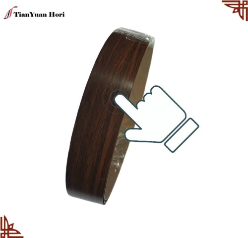 china factory furniture accessories parts veneer pvc edge banding plastic cabinet edging trim strip wood grain edge banding tape