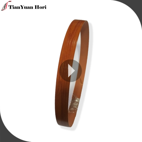 2018 September tradeshow furniture plywood 1.2mm pvc woodgrain edge banding