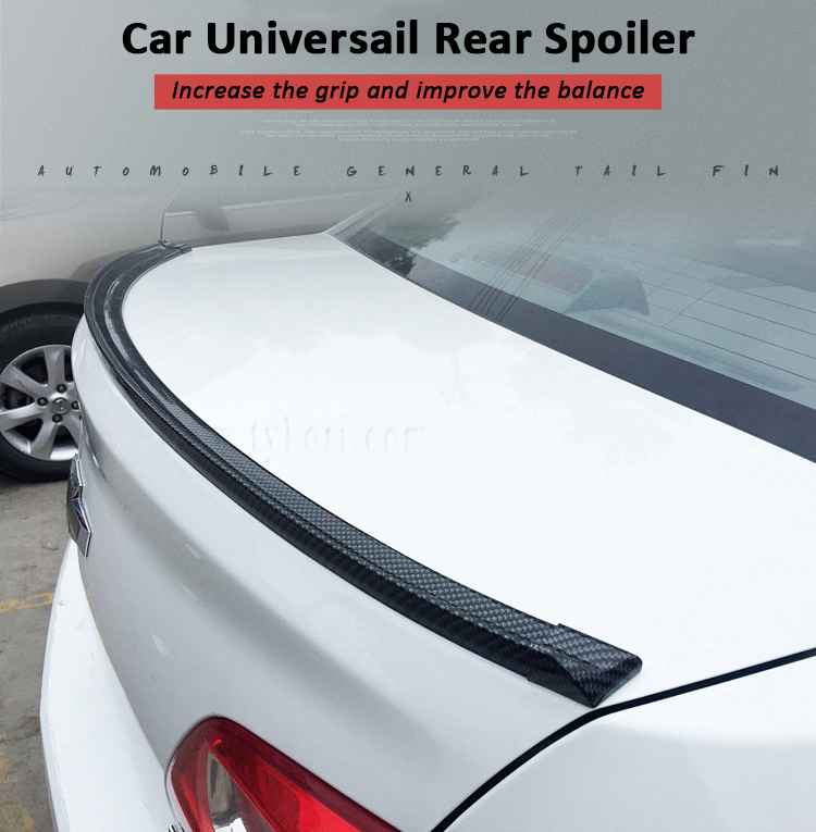 Free Punching Carbon Rubber Rear Racing Spoiler Strip for Universal Car