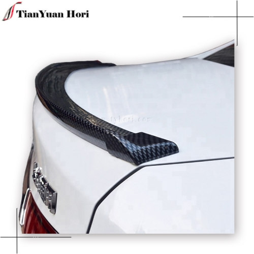 Car universal carbon fiber rear trunk rubber lip spoiler ducktail spoiler