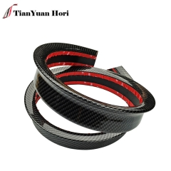 Universal Soft Rear Lip Bumper Spoiler with Carbon Fiber Texture for All Type of Car