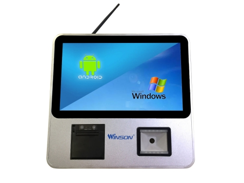Window/Android Price Checker 15.6 inch Big Touch Screen with Printer