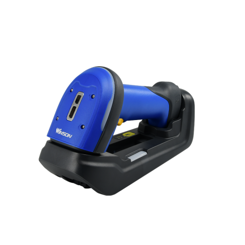 Winson ST-71 Wireless Industrial Bluetooth Barcode Scanner with base