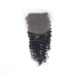Hot Selling 100% Raw Hair 4*4 Lace Closure DEEP CURLY