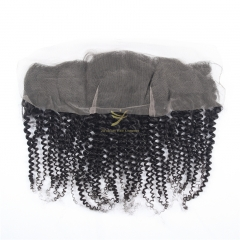 JiFanYao Hot Selling 100% Raw Hair 13*4 Lace Frontal KINKY CURLY