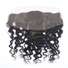 JiFanYao Hot Selling 100% Raw Hair 13*4 Lace Frontal FRANCE CURLY